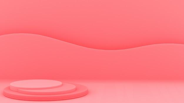 Projektowanie 3d z podium do wyświetlania produktów