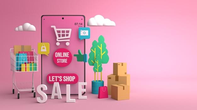 Projektowanie ilustracji 3d do marketingu online za pomocą smartfona