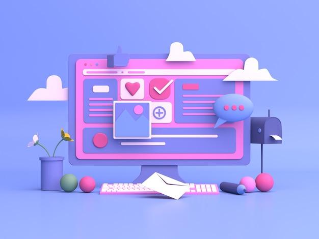 Projektowanie ilustracji 3d do marketingu online