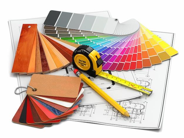 Projektowanie wnętrz. narzędzia i projekty materiałów architektonicznych