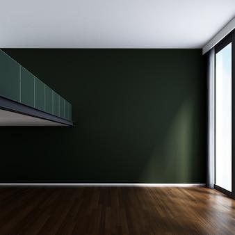 Projektowanie wnętrz nowoczesny salon pusty