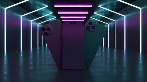 Projekty telefonów z neonami