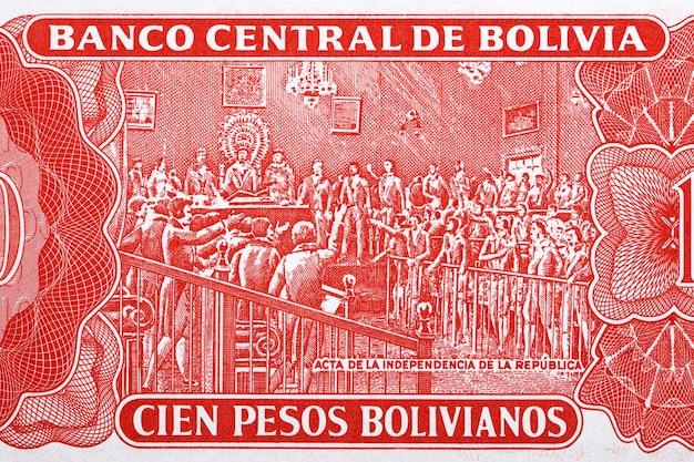 Proklamacja niepodległości od starych boliwijskich pieniędzy