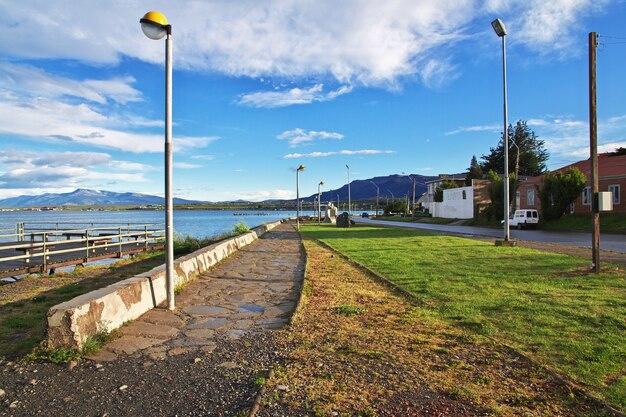 Promenada w puerto natales w chile
