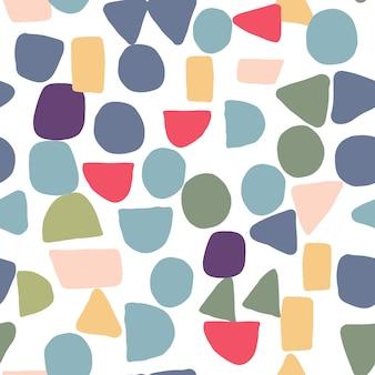Prosta konstrukcja tekstury z chaotycznymi malowanymi kształtami. streszczenie kreatywnych kształtów wzór. tło dla okładek tekstylnych lub książek, tapet, designu, opakowania