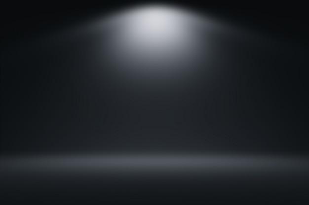 Proste czarne tło światło gradientowe