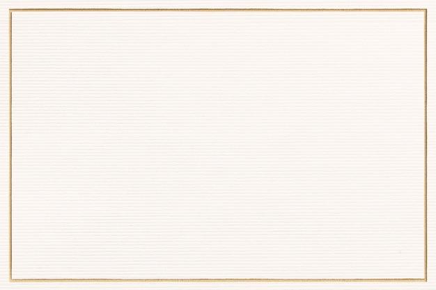 Prostokąt złota ramka na papierze