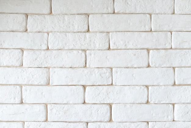 Prosty biały ściana z cegieł tło