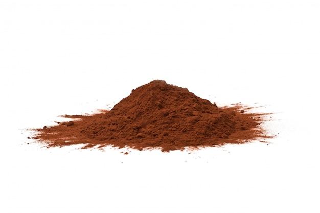 Proszek kakaowy izolowany