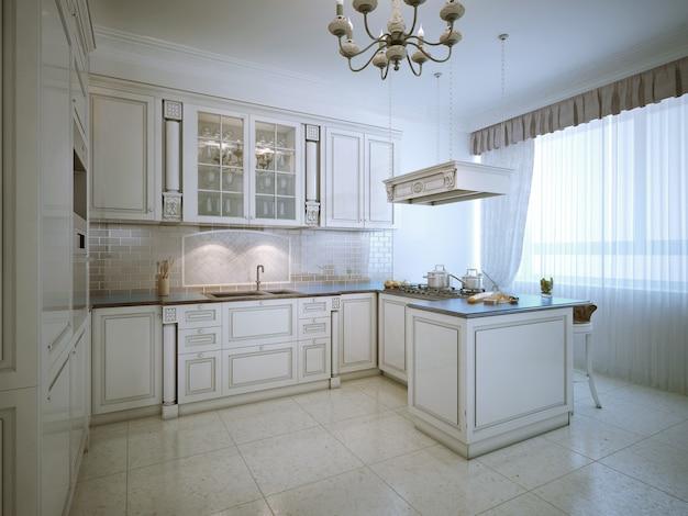 Prowansalskie wnętrze luksusowej kuchni