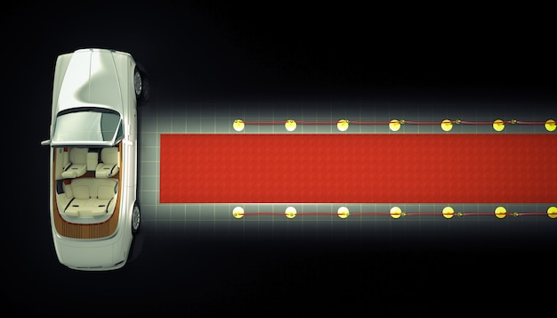 Prywatna limuzyna i czerwony dywan