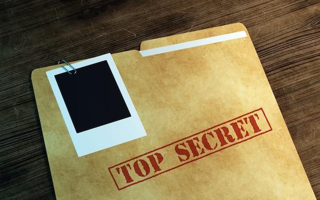 Prywatne biurko śledczego. 3d ilustracji