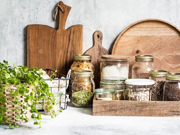 Przechowywanie w kuchni produktów wielokrotnego użytku