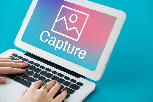 Przechwytywanie nagrywanie ramka ostrości zdjęcie multimedialne