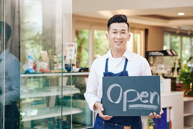 Przedsiębiorca otwiera kawiarnię