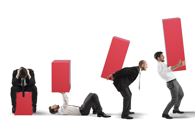 Przedsiębiorca podnosi statystyki ze zmęczeniem