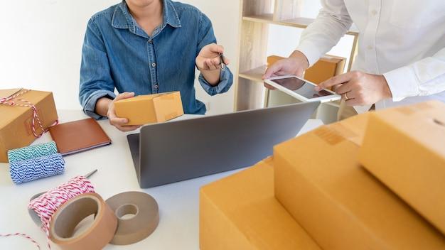Przedsiębiorstwo dostawcze małe i średnie przedsiębiorstwa (mśp) pudełko dla pracowników
