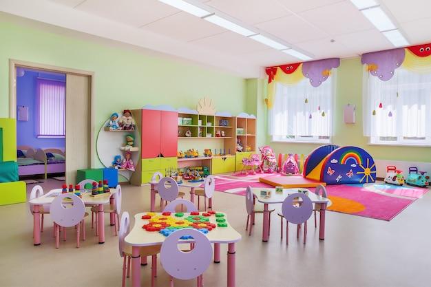 Przedszkole nowoczesne wnętrze sali