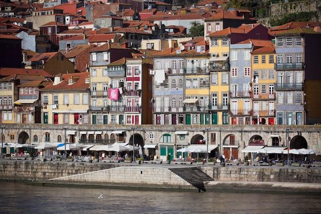 Przegląd starego miasta porto w portugalii