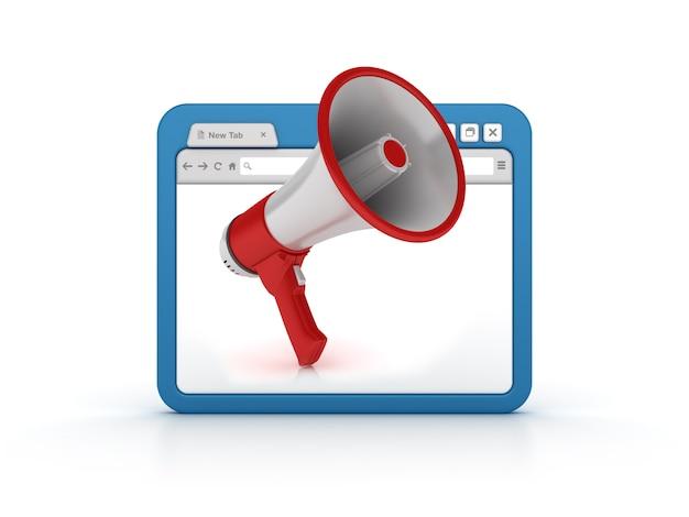 Przeglądarka internetowa z megafonem