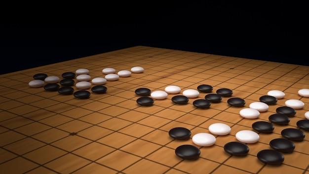 Przejdź do abstrakcyjnej gry planszowej strategii dla dwóch graczy renderowania obrazu 3d.