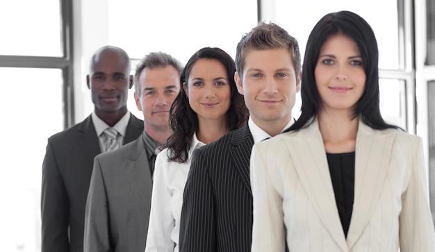 Przekonany, żeński lider biznesu