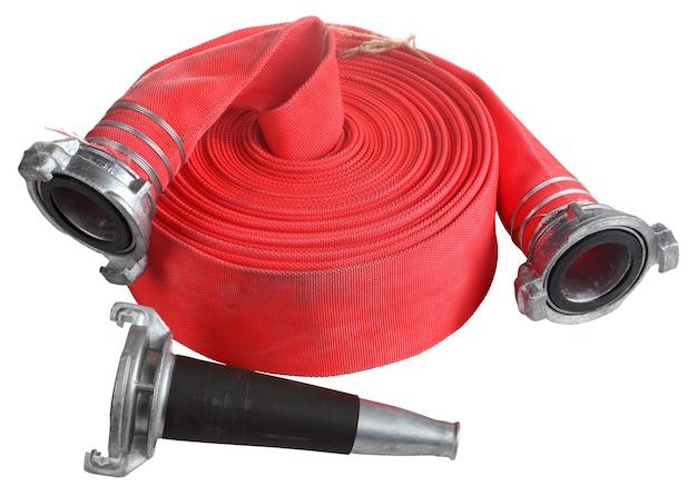 Przemysł strażacki, bębny zwijające wąż red fire, wąż strażacki są używane do natryskiwania wodą pod wysokim ciśnieniem, z aluminiową dyszą i złączką.