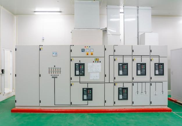 Przemysłowy panel przełączników elektrycznych