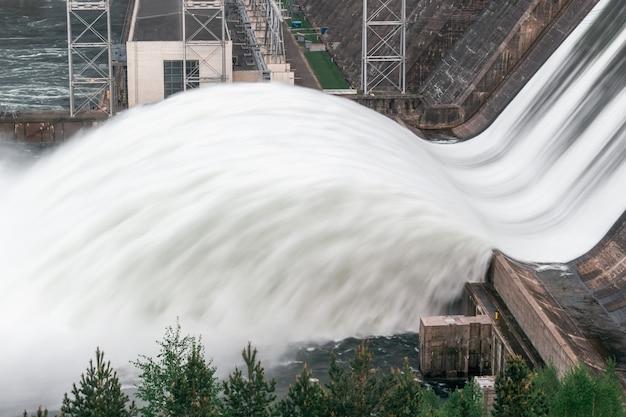 Przepływ wody odprowadzany przez elektrownię wodną