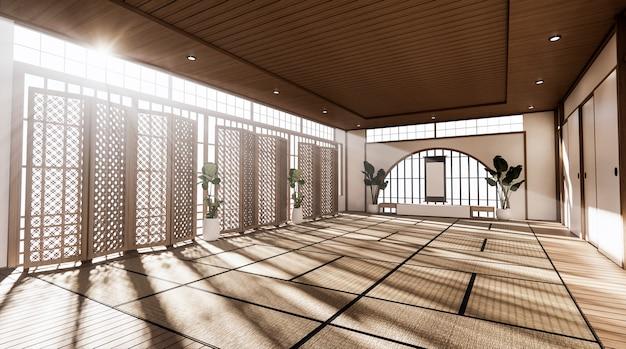 Przestronny pokój w stylu japońskim renderowania 3d