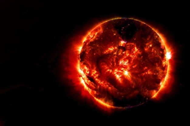 Przestrzeń słoneczna.elementy tego obrazu zostały dostarczone przez nasa. zdjęcie wysokiej jakości