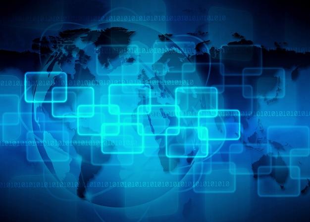 Przestrzeń streszczenie technologii