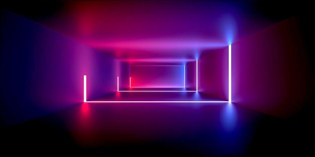 Przestrzeń światła neonowego
