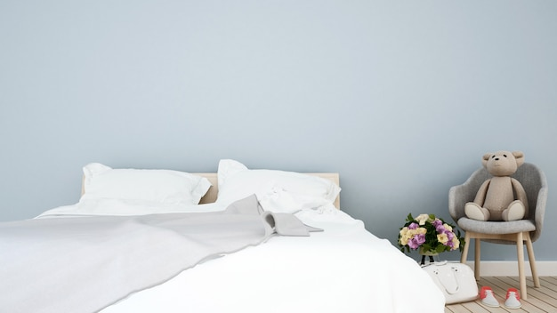 Przestrzeń sypialni i pokoju dziecięcego w domu