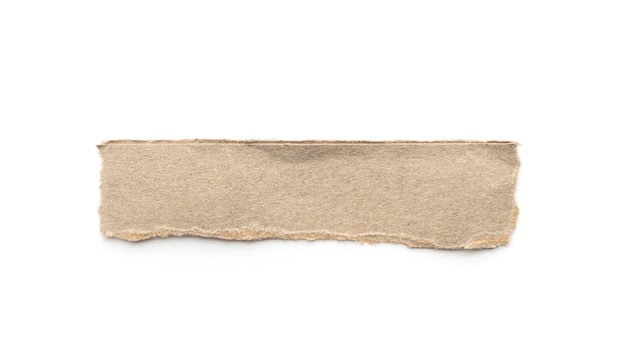 Przetwarzający papierowy rzemiosło kij na białym tle.