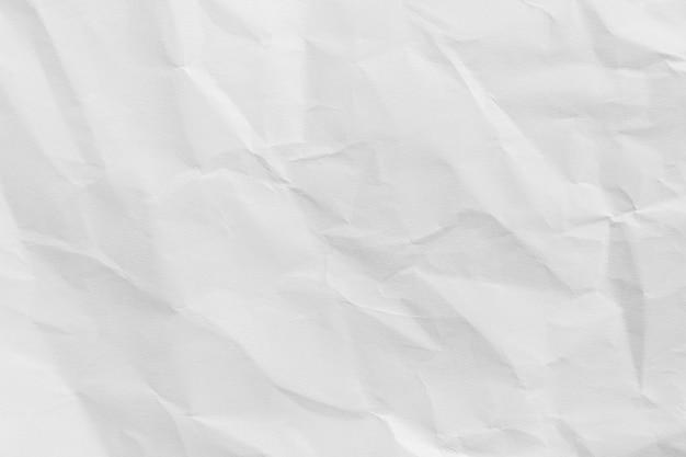 Przetworzony zmięty papier biały tekstury lub tło papieru