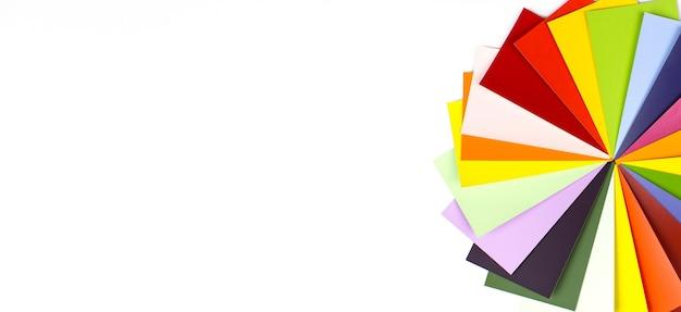 Przewodnik po palecie kolorów. przykładowy katalog kolorów. próbki kolorów płytek.