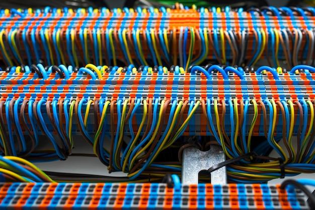 Przewody w panelu elektrycznym