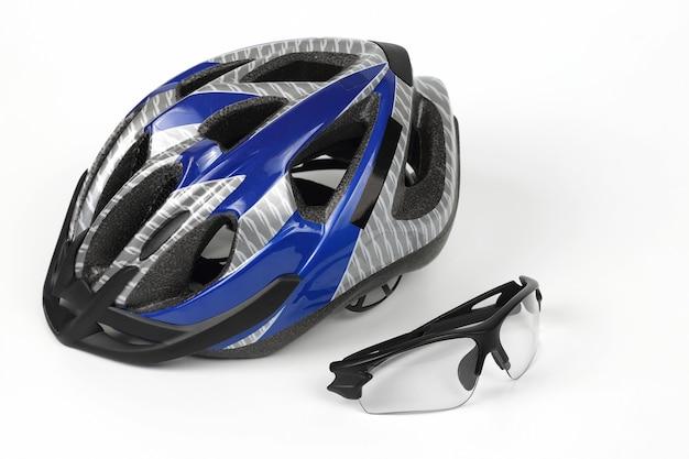 Przezroczyste okulary rowerowe na kasku