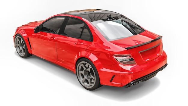Przezroczysty Super Szybki Samochód Sportowy Wytyczony Liniami Na Białym Tle Premium Zdjęcia