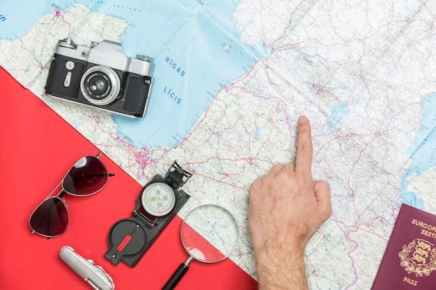 Przycinaj rękę wybierając miejsce na mapie