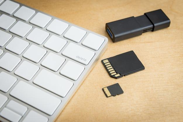 Przycisk kasowania klawiatury bezprzewodowej i pamięci