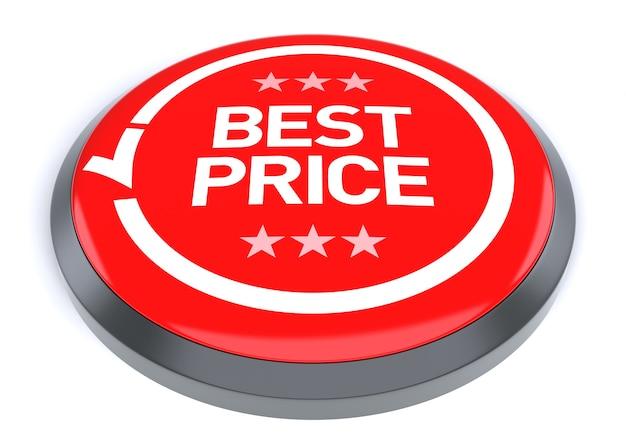 Przycisk najlepszej ceny. cyfrowo generowany obraz 3d.