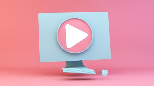 Przycisk odtwarzania wideo na komputerze