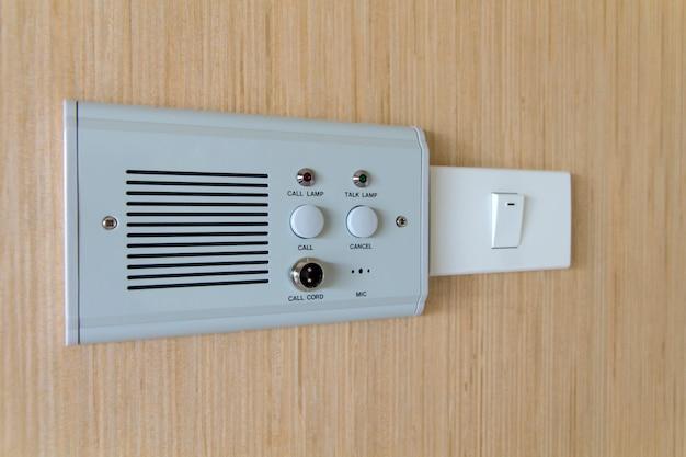 Przycisk przełącznika bocznego łóżka, pomoc pielęgniarki wezwania przełącznika awaryjnego w szpitalu