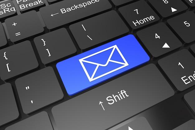 Przycisk wprowadzania klawiatury z symbolem poczty