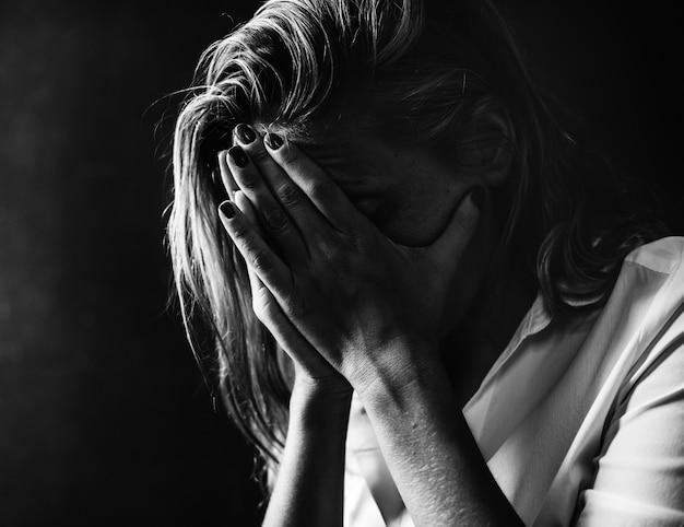 Przygnębiony i beznadziejny