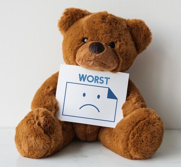 Przygnębiony sam smutek negatywny nieszczęśliwe emocje