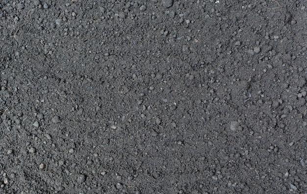Przygotowanie gleby do sadzenia. glebowy tekstury tło.