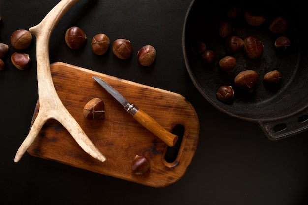 Przygotowanie kasztanów do smażenia